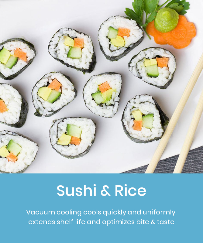 Vacuum Coolers for Sushi & Rice