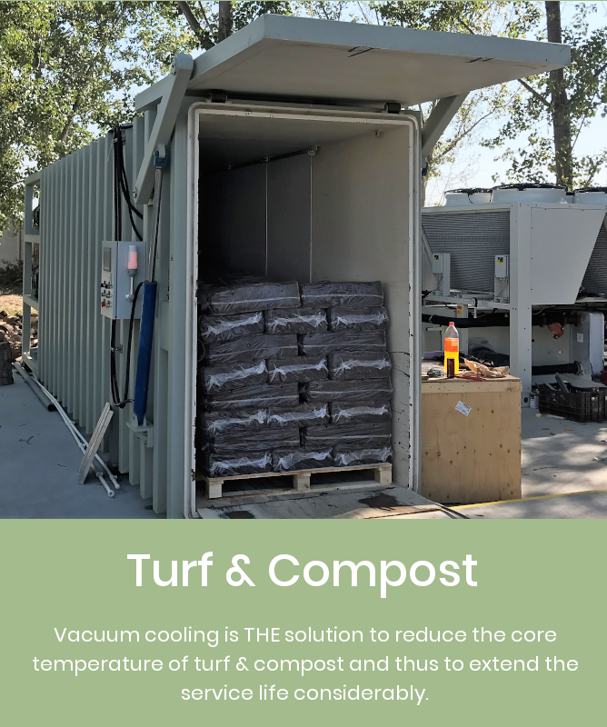 Cooling down turf with Weber vacuum coolers