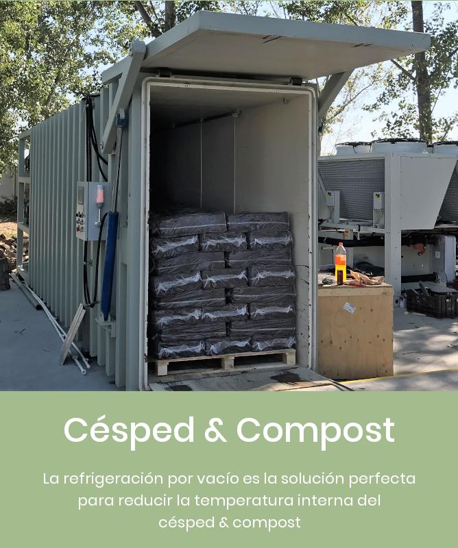 Enfriamiento por vacío para césped y compost