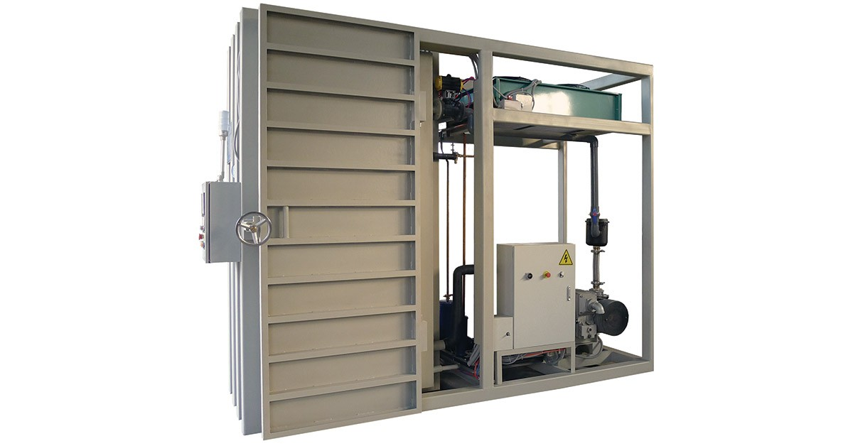 Single Pallet Vacuum Cooler for all standard pallet sizes